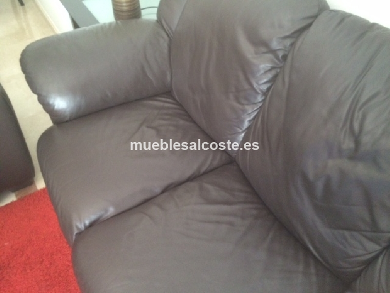Conjunto sofa 2 3 plazas polipiel cod 13880 segunda mano for Sofa 2 plazas polipiel