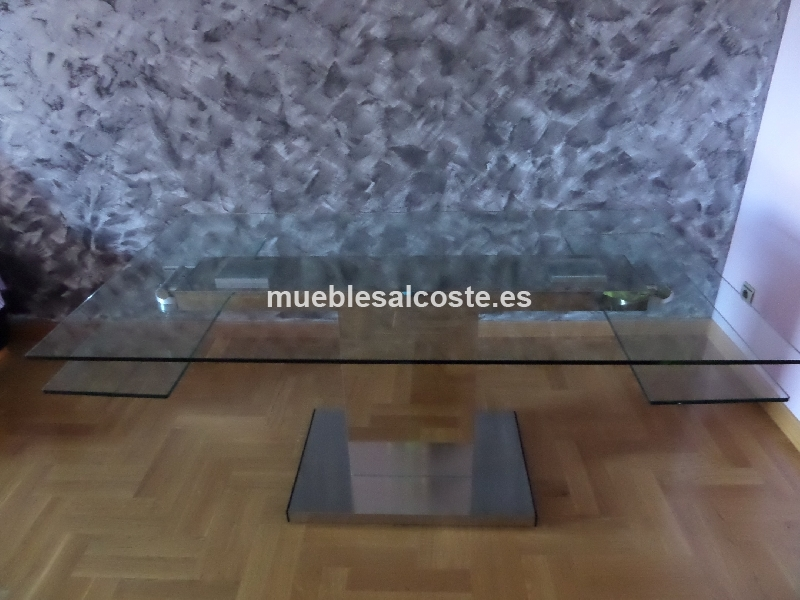 Mesa de cristal cod 13897 segunda mano for Mesa cristal segunda mano