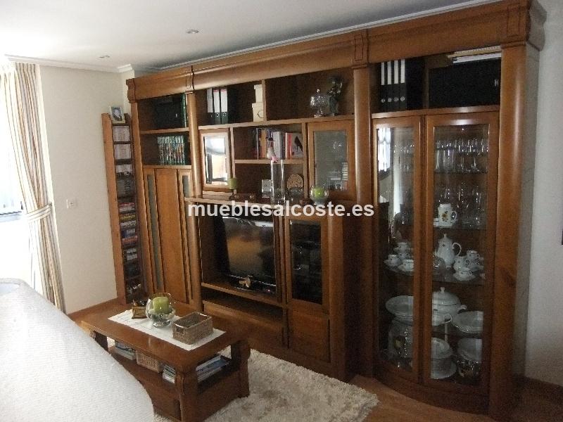 Armario salon estilo madera acabado madera cod 13936 for Armario salon