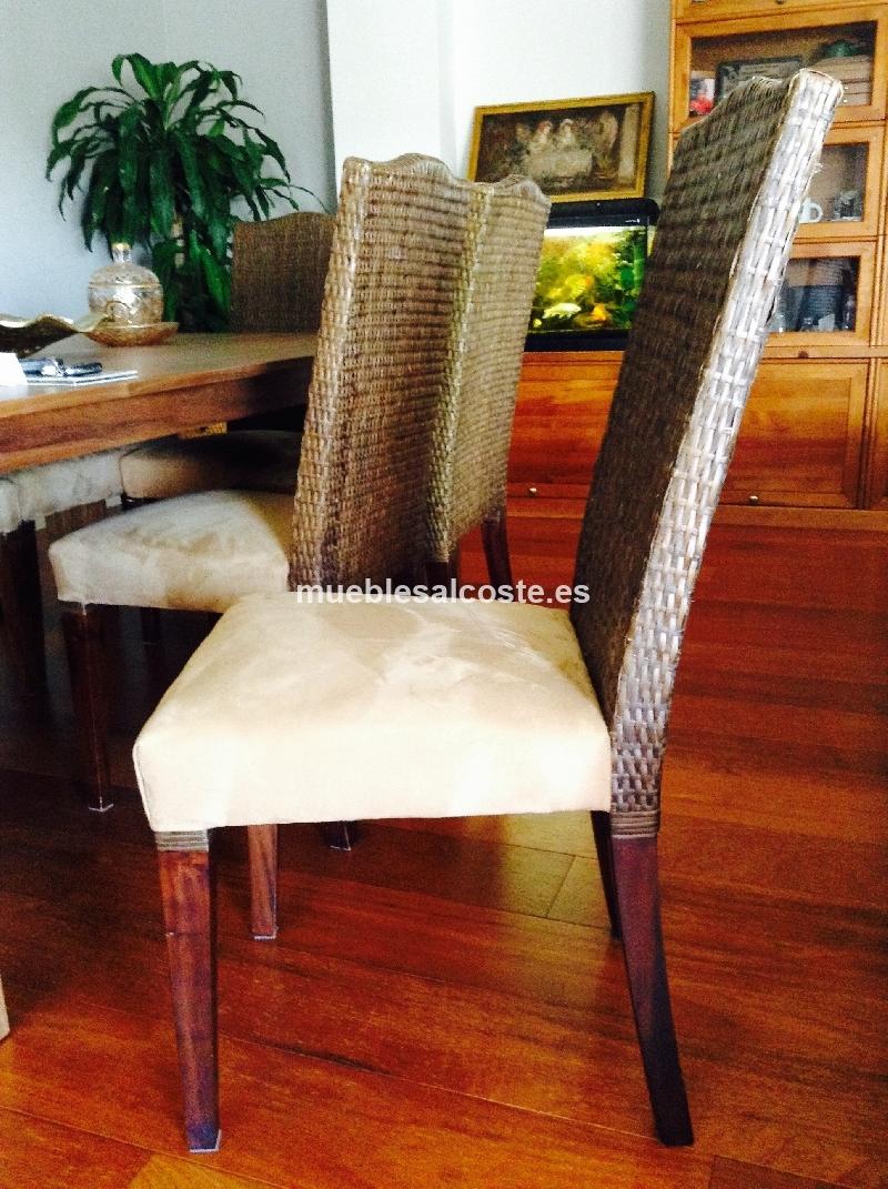Comedor mesa y sillas cod 13991 segunda mano for Sillas comedor madrid