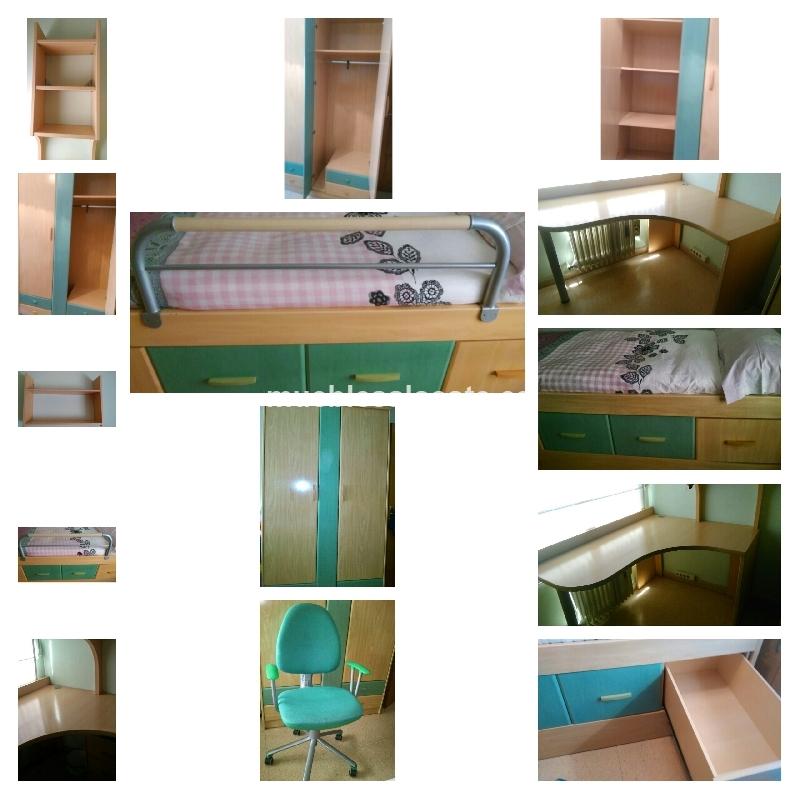 Habitacion juvenil unisex 14010 segunda mano - Comprar habitacion juvenil segunda mano ...