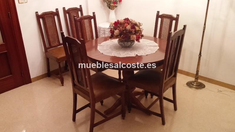 Mesa Comedor Extensible Redonda y 6 sillas cod:14028 segunda mano ...