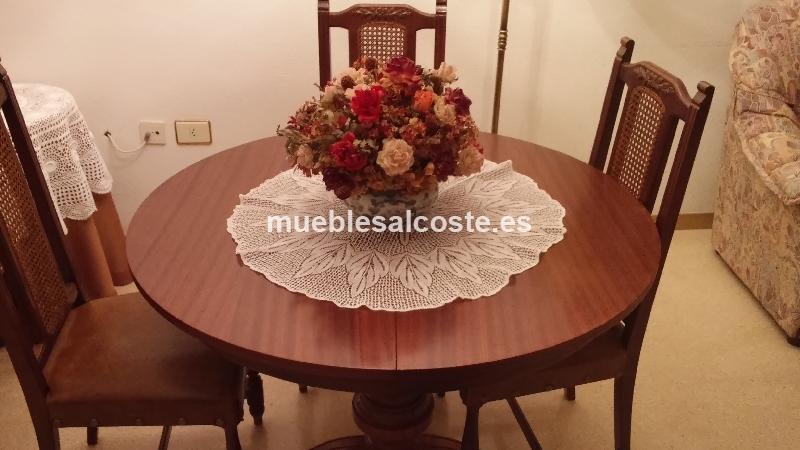 Mesa comedor extensible redonda y 6 sillas cod 14028 for Sillas comedor segunda mano