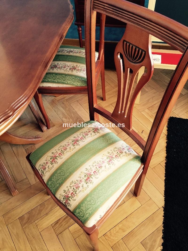 Mesa de salon y sillas cod 14040 segunda mano - Mesas y sillas de salon ...