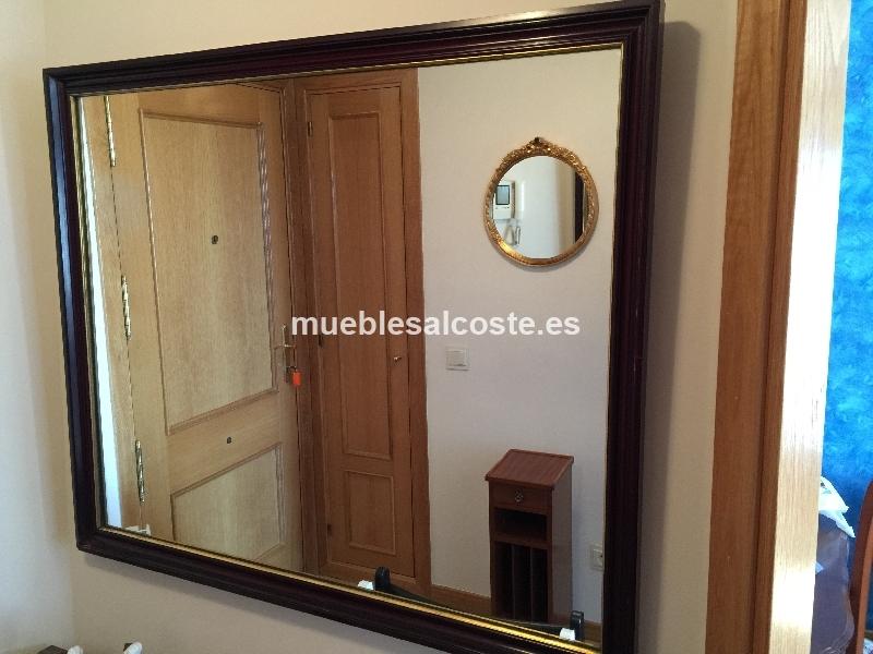 Espejo estilo cl sico neocl sico acabado madera cod for Espejo segunda mano