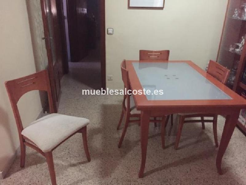 Mesa de salon y cuatro sillas cod 14082 segunda mano for Mesas y sillas de salon