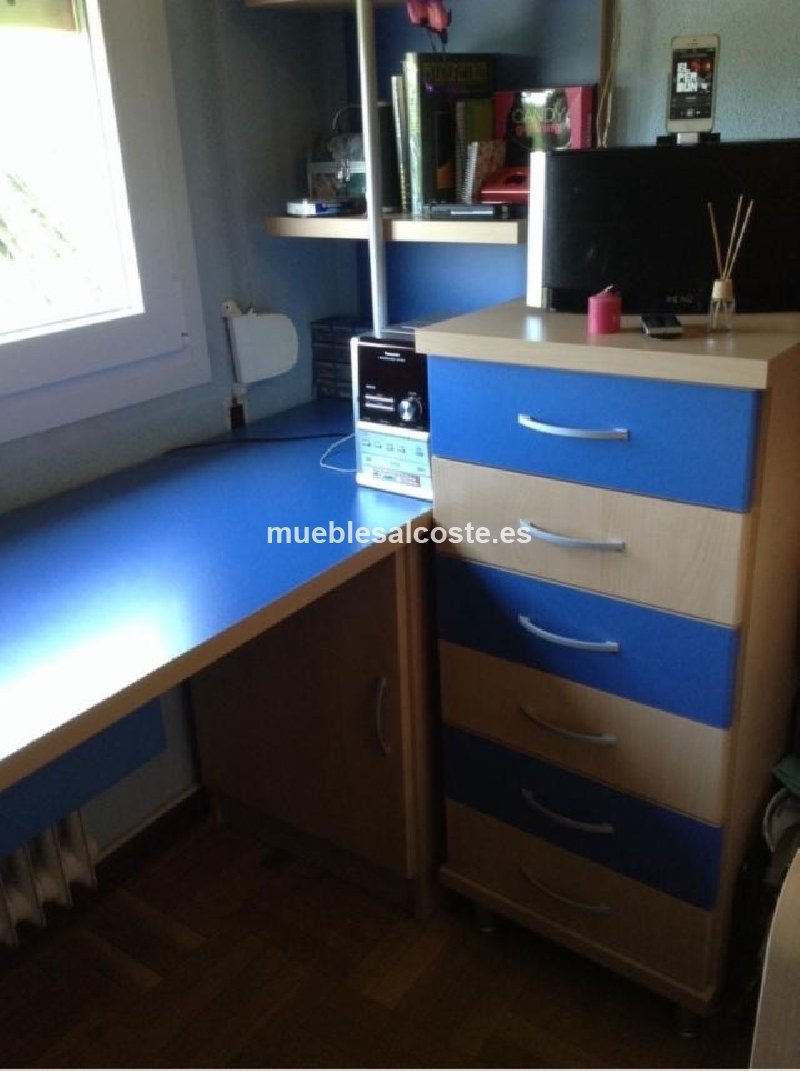 Habitacion juvenil estilo kit acabado madera cod 14092 segunda mano - Comprar habitacion juvenil segunda mano ...