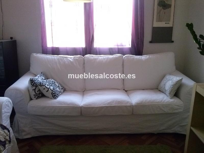 2 sofas de tres plazas fundas lavables ikea ektorp cod 14120 segunda mano - Ikea fundas de sofas ...