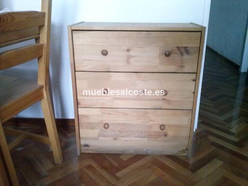 Cajonera de madera sin tratar cod 14122 segunda mano - Cajonera de madera ...