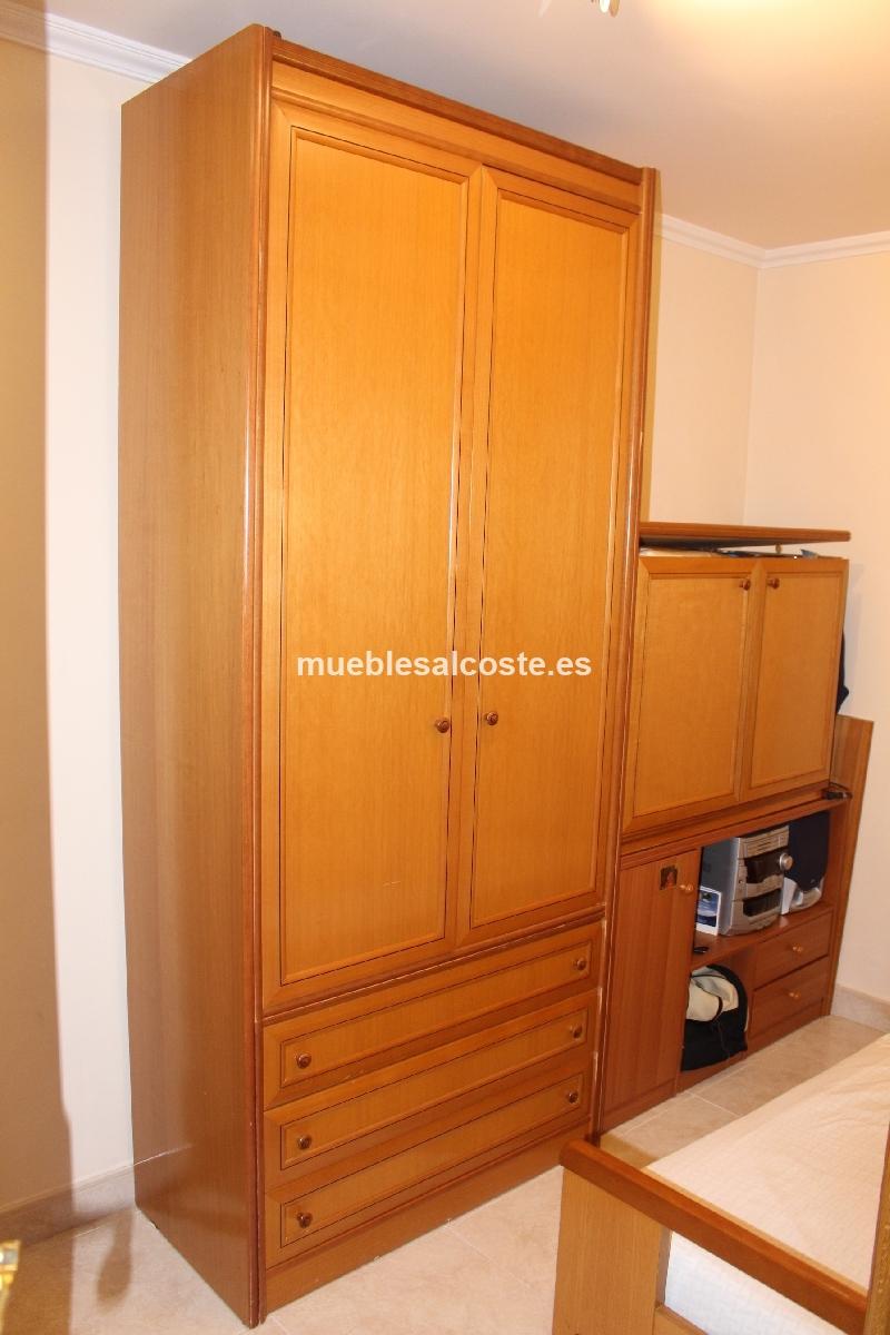 Artesanato Folclorico Do Espirito Santo ~ Habitacion individual de madera, con armario y cama nido cod 14203 segunda mano, Mueblesalcoste es
