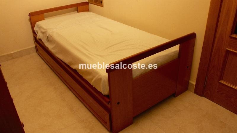 Habitacion individual de madera con armario y cama nido - Habitacion con cama nido ...
