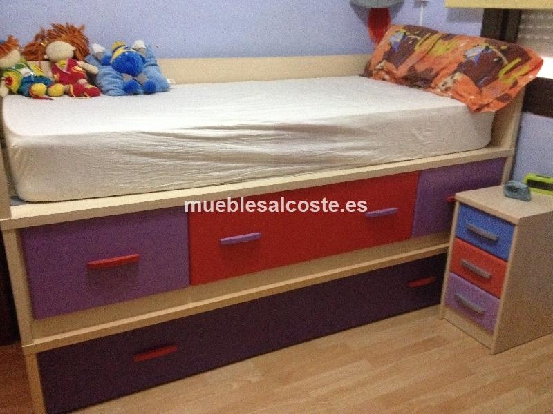 Cama nido infantil con grandes cajones cod 14200 segunda - Cama nido infantil ...