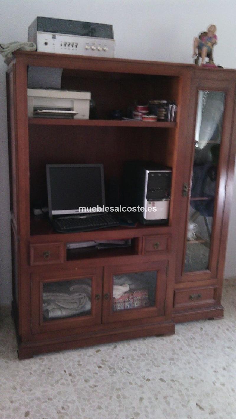 Mueble televisor estilo colonial acabado madera cod - Mueble estilo colonial ...