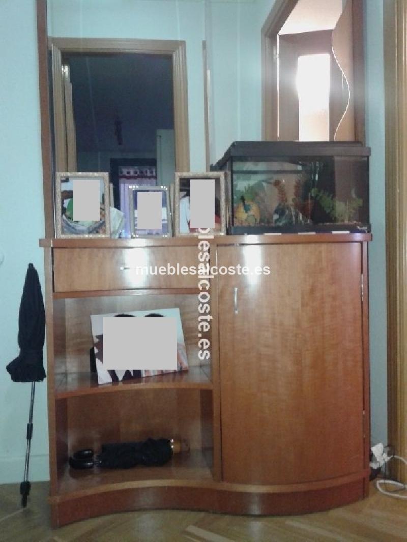 Mueble recibidor estilo moderno acabado chapa natural - Mueble recibidor moderno ...