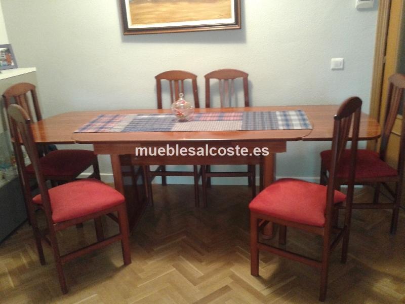 Espectacular mesa comedor extensible con 6 sillas cod for Sillas comedor segunda mano