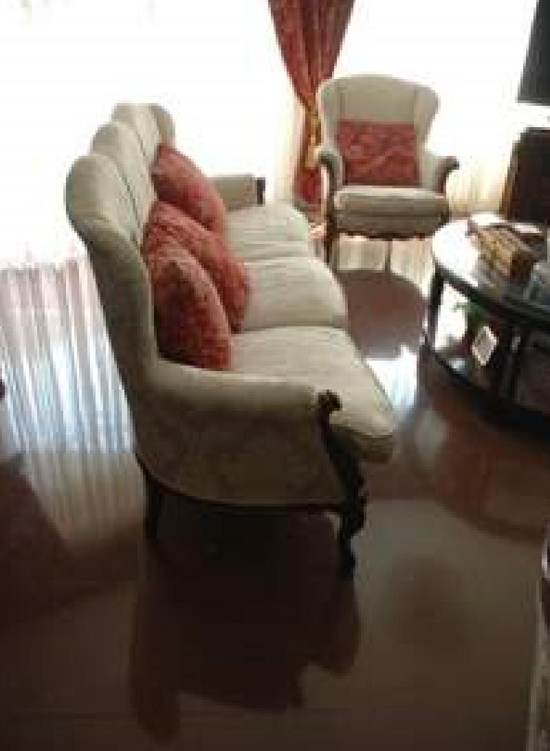 sof y dos sillones estilo luis xv