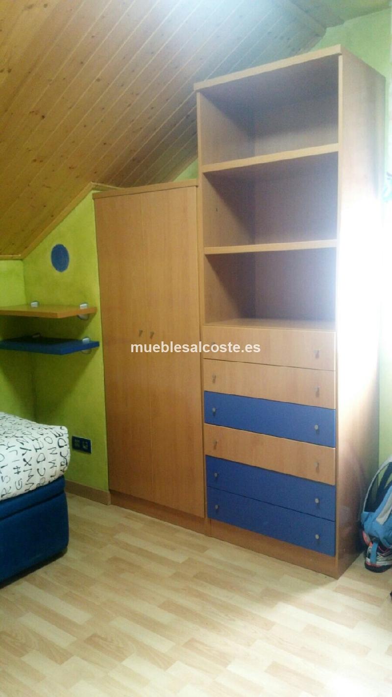 Dormitorio juvenil cama nido cod 14553 segunda mano for Dormitorio juvenil cama nido
