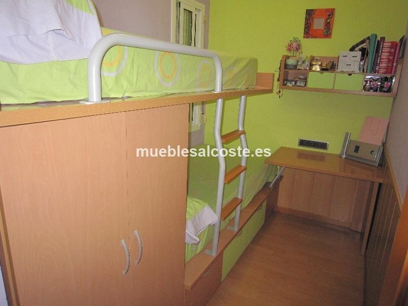 Dormitorio juvenil tipo tren cod 14556 segunda mano - Habitacion tren juvenil ...