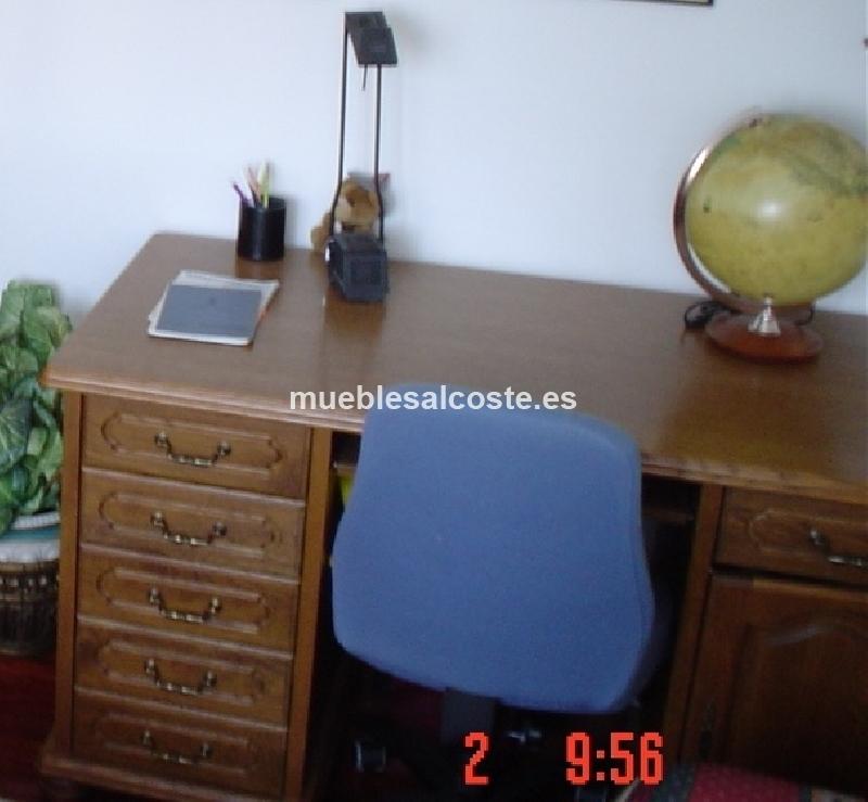 Escritorio madera maciza provenzal cod 14568 segunda mano - Escritorios madera maciza ...
