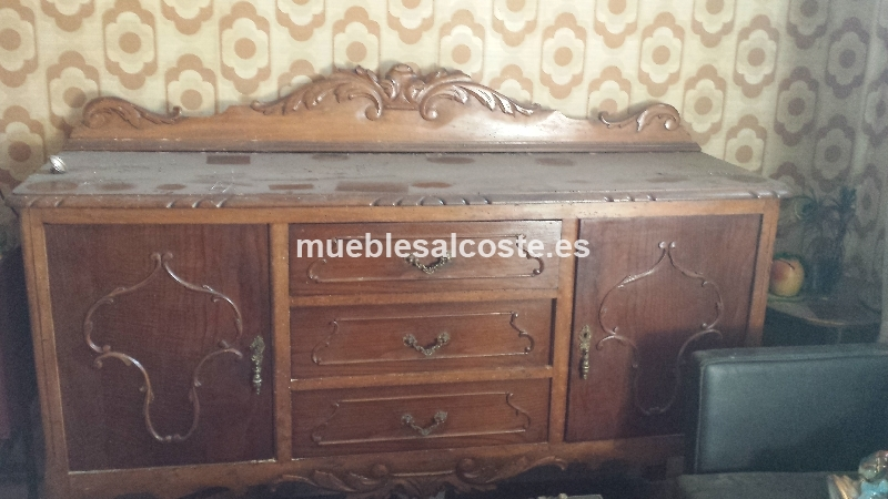 Salon estilo madera acabado madera cod 14570 segunda - Muebles segunda mano bizkaia ...