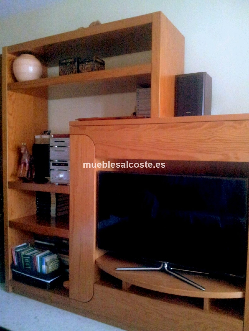 Mueble salon merkamueble madera de pino maciza cod 14649 for Muebles salon madera maciza