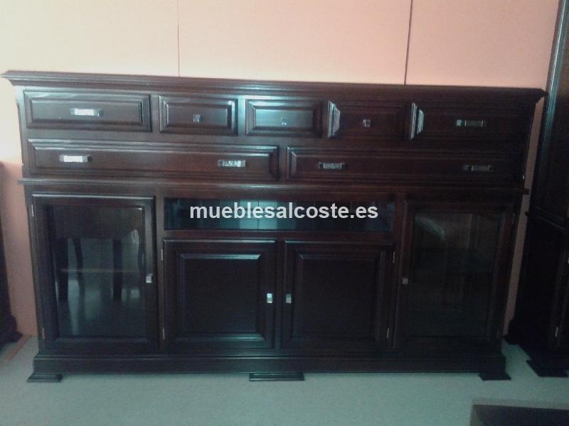 Conjunto salon en madera acabado nogal cod 14653 for Muebles lucena liquidacion