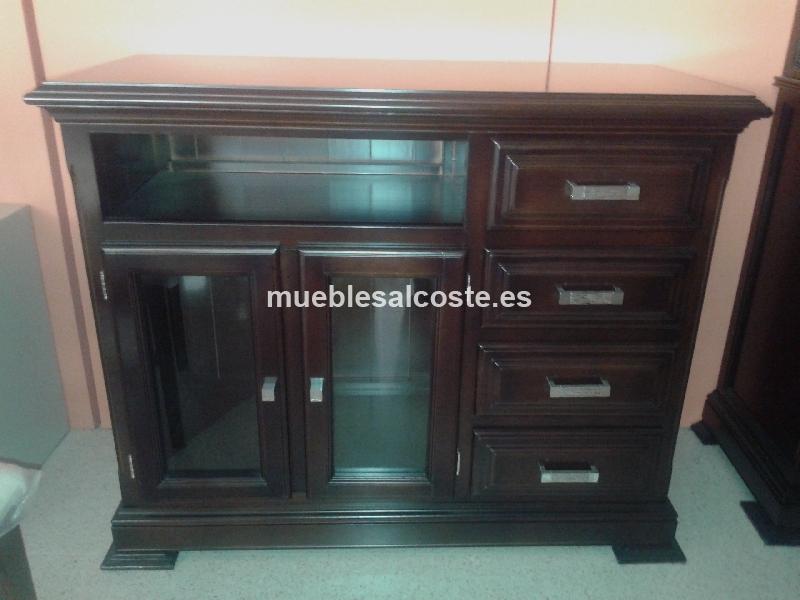 Conjunto salon en madera acabado nogal cod 14653 liquidacion - Muebles lucena liquidacion ...