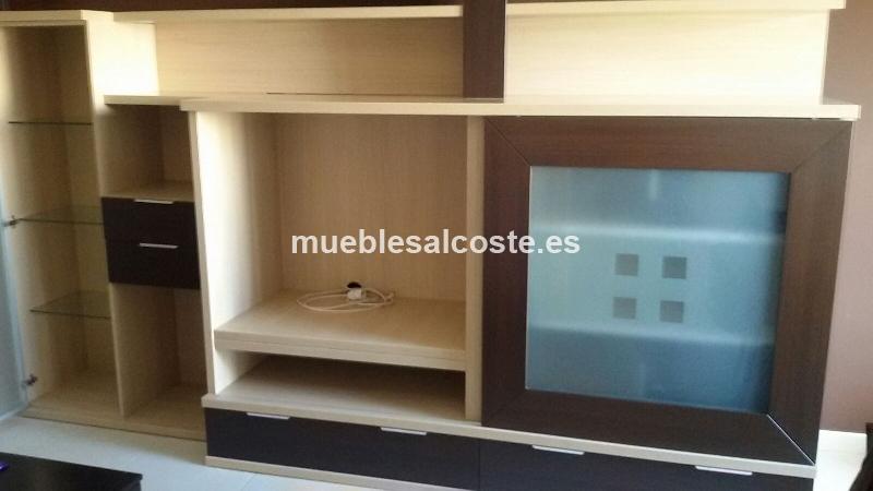 Mueble de salon moderno de color wengue cod 14659 segunda for Mueble salon moderno