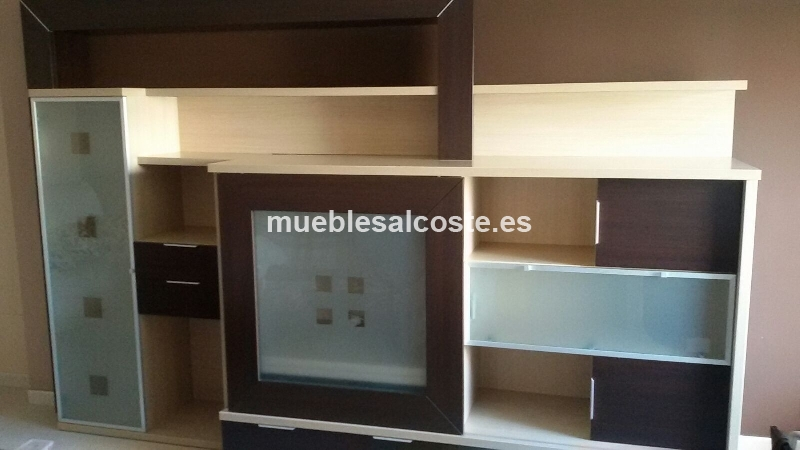 Mueble de salon moderno de color wengue cod 14659 segunda for Muebles salon color wengue