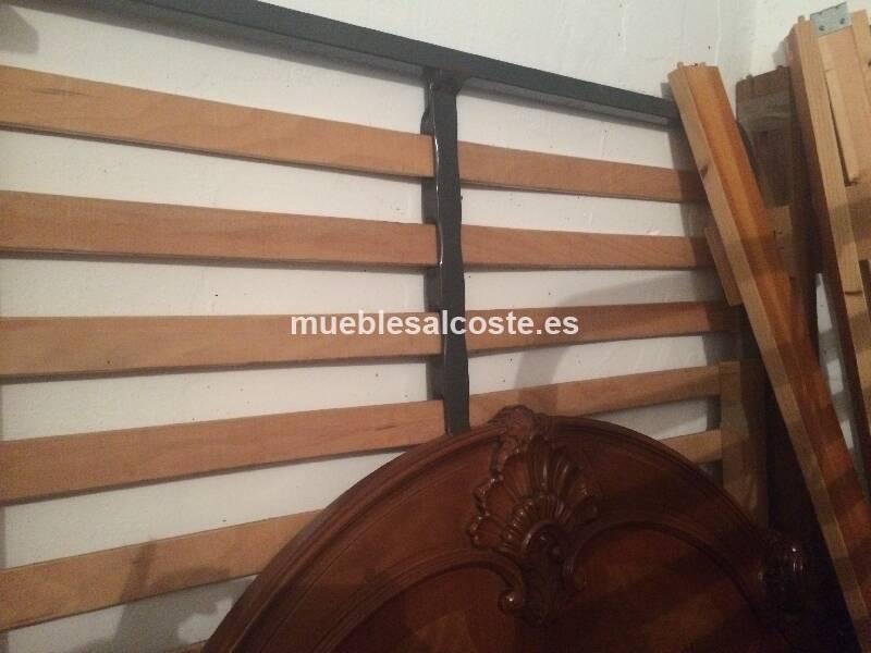 Estructura cama madera maciza cod 14686 segunda mano - Estructura cama ...