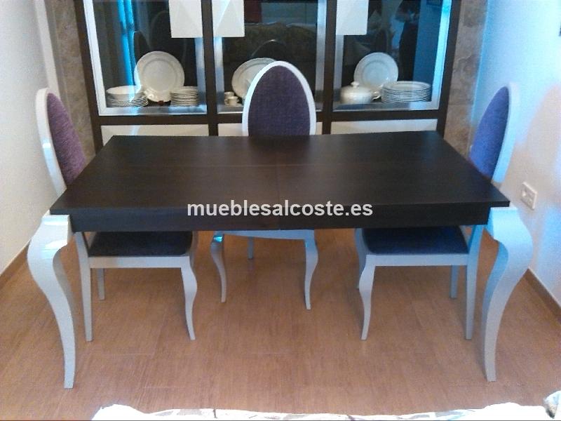 Mesa salon comedor extensible cod 14694 segunda mano - Mesa salon extensible ...