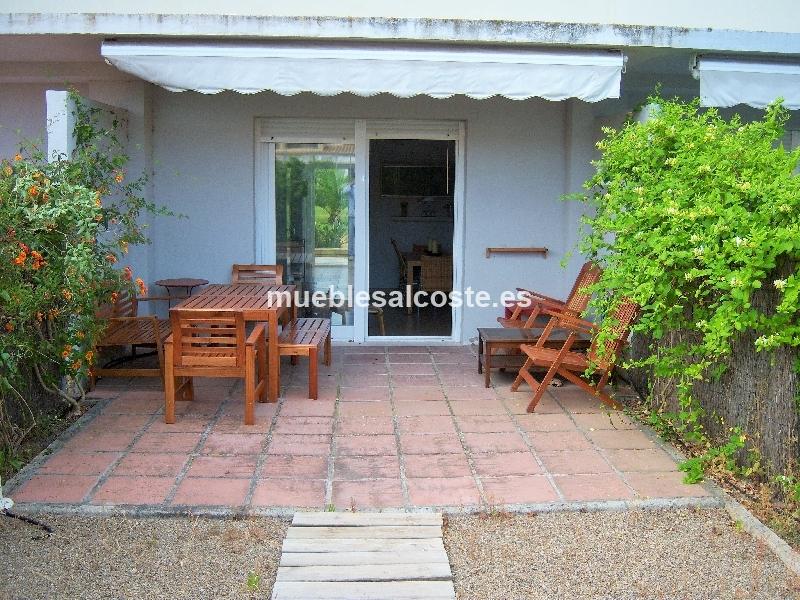 Muebles jardin estilo madera acabado madera cod 14708 for Muebles jardin segunda mano