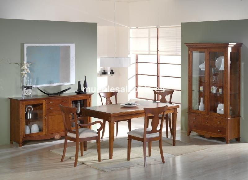 mesa comedor, estilo Clásico - Neoclásico, acabado Chapa Natural cod ...