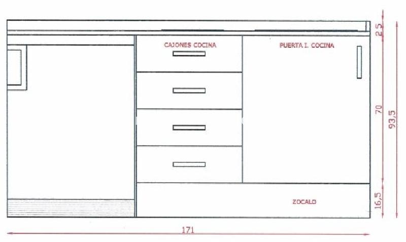 Armario modular cocina cod 14815 segunda mano - Armarios cocina segunda mano ...