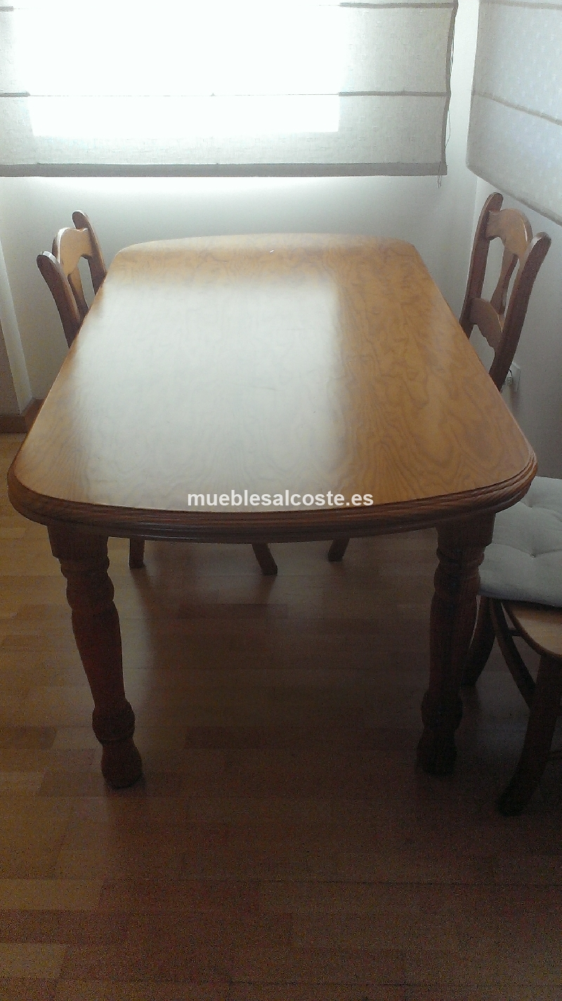 Mueble comedor mesa y sillas cod 14812 segunda mano - Sillas comedor segunda mano barcelona ...