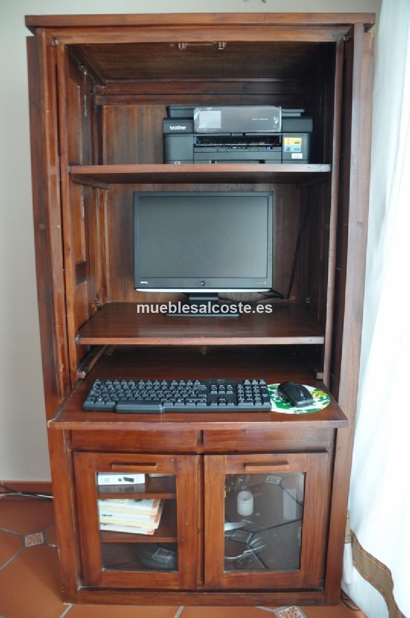 Mueble ordenador escritorio cod 14821 segunda mano for Mueble escritorio ordenador