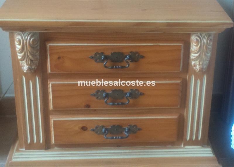 Dormitorio matrimonio de madera cod 14837 segunda mano for Dormitorio matrimonio madera