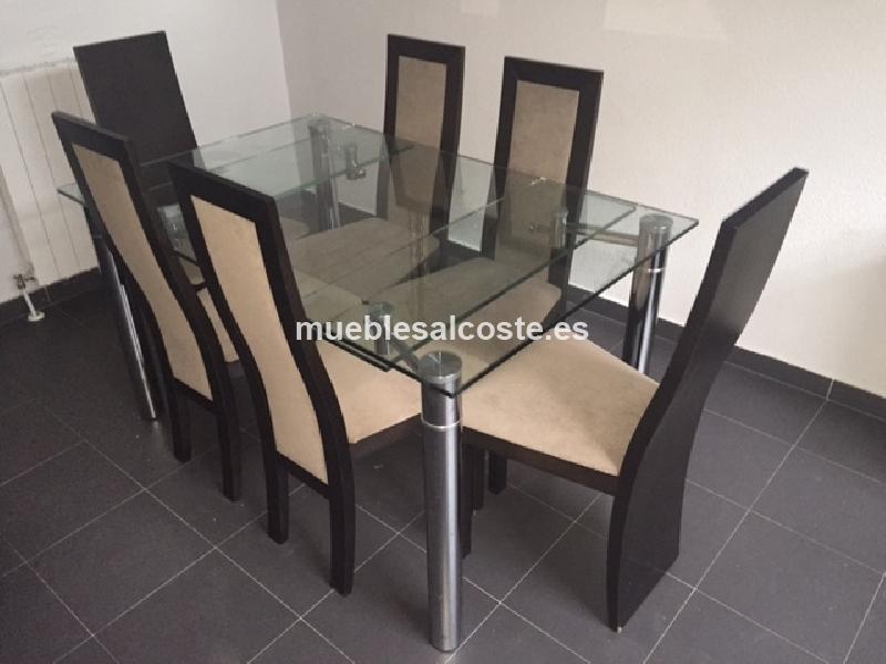 Mesa de comedor con sillas cod 14881 segunda mano for Mesa comedor ampliable