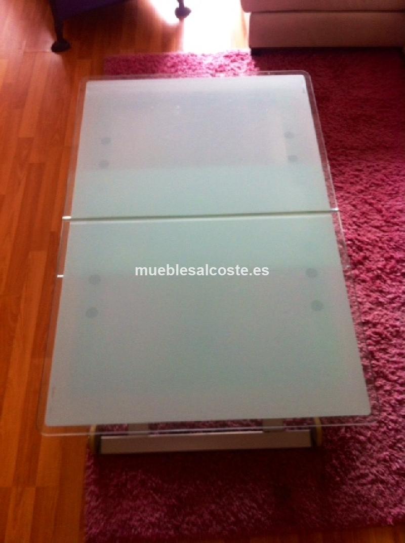 Mesa auxiliar estilo moderno acabado cristal cod 14896 - Mesa auxiliar extensible ...
