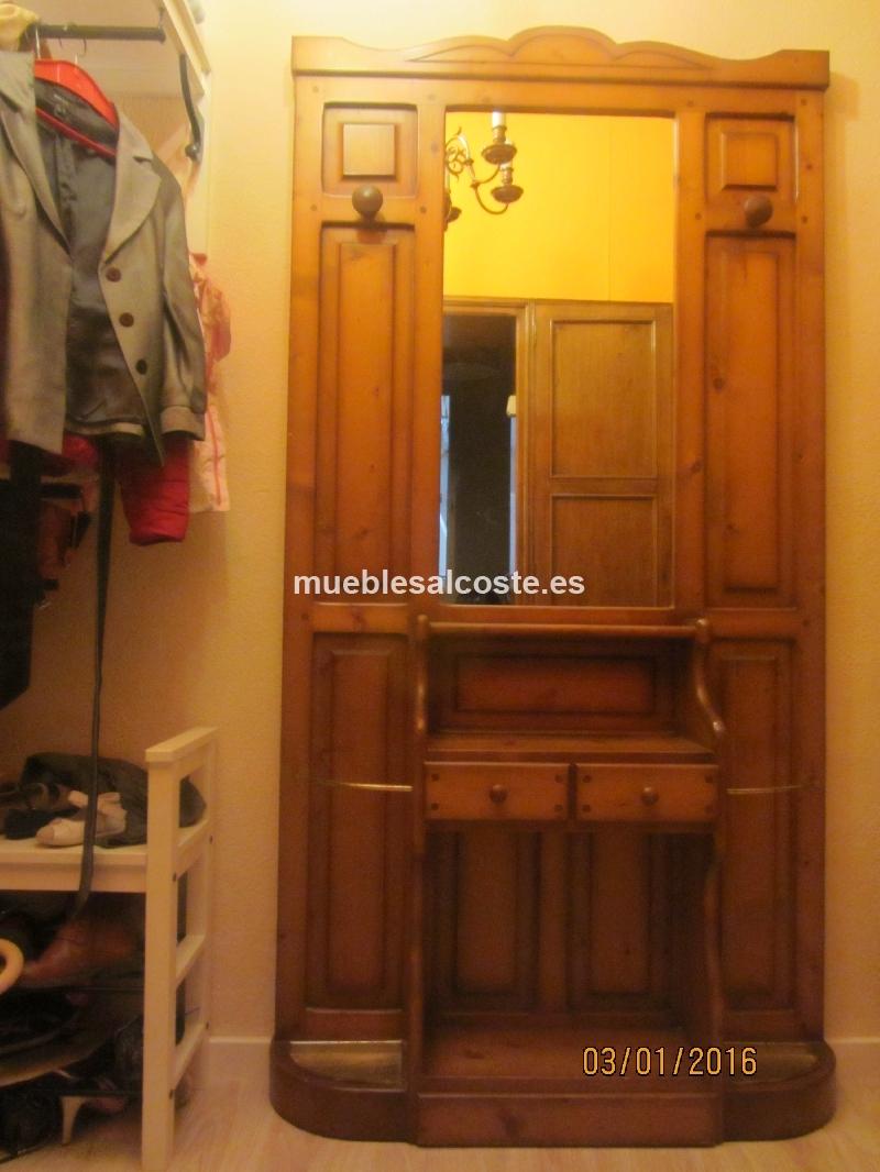 Mueble recibidor estilo madera acabado madera cod 15024 - Recibidor segunda mano ...