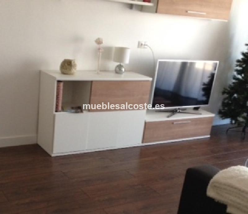 Mueble salon estilo moderno acabado melamina cod 15091 for Muebles salon malaga