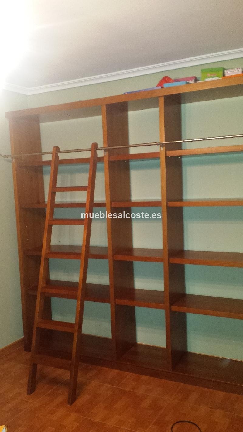 Estanteria en madera maciza de pino cod 15137 segunda mano - Estanterias modulares de madera ...