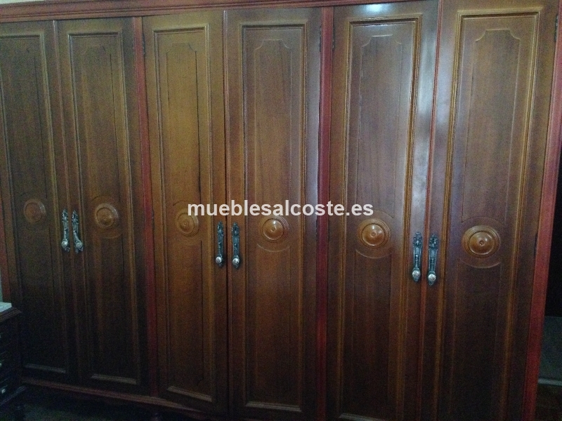 Armario dormitorio estilo colonial acabado madera cod 15154 segunda mano - Armarios 2 mano ...