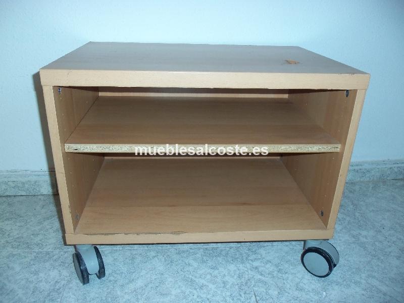 Mueble para tv 48 5 x 60 x 39 5 con ruedas cod 15195 for Mueble tv ikea segunda mano