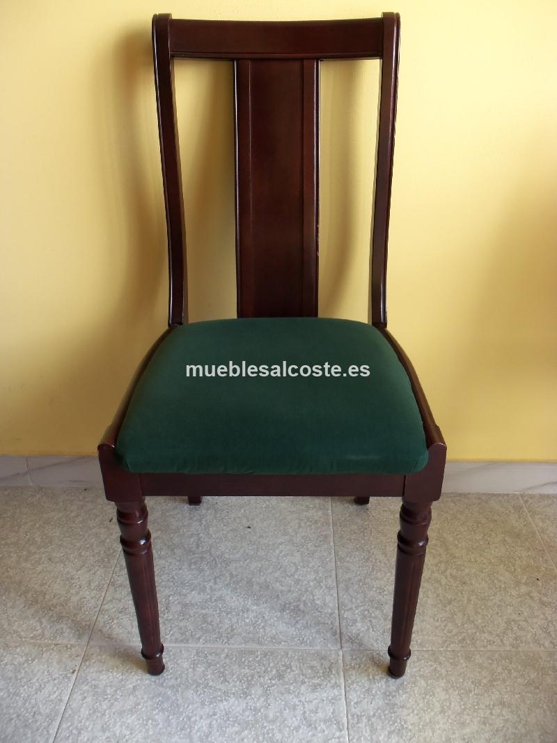 Silla de madera tapizada cod 15197 segunda mano for Sillas madera segunda mano