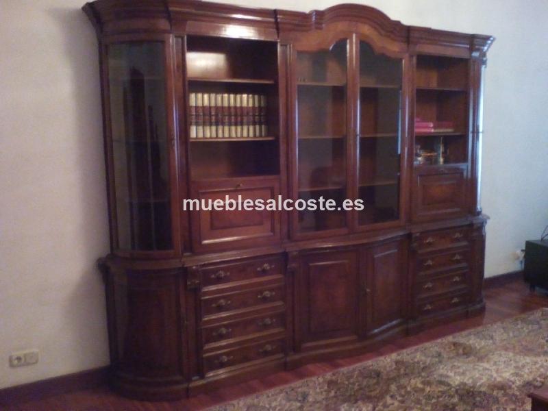 Mueble libreria estilo madera acabado madera cod 15240 - Muebles segunda mano bizkaia ...