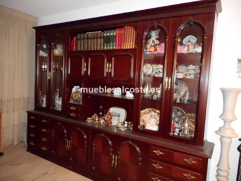 Mueble de salon tipo boisserie de madera cod 15260 segunda - Muebles salon segunda mano malaga ...