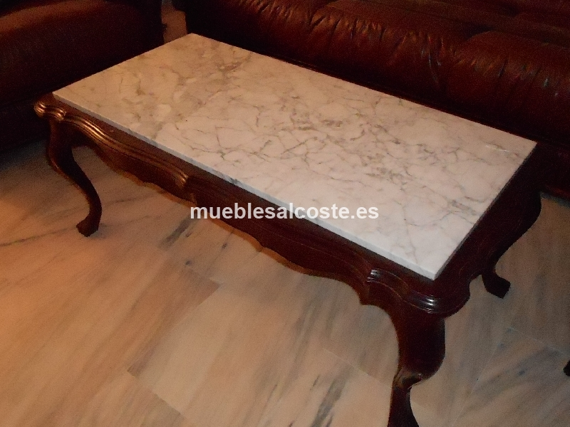 Mesa baja vintage de madera y mármol cod:15262 segunda mano ...