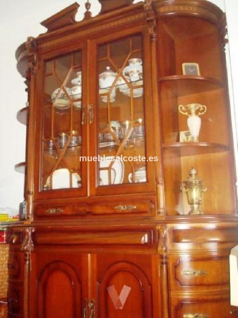Vitrina de madera noble y puertas de cristal cod 15264 - Vitrinas de cristal de segunda mano ...