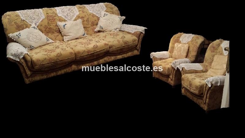 Tresillo estilo cl sico neocl sico acabado tela cod for Tresillos clasicos estilo